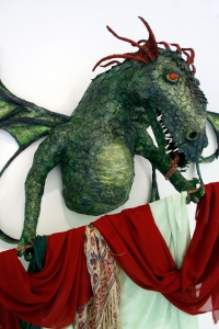 One of Beth Johnson's paper Mache dragons.