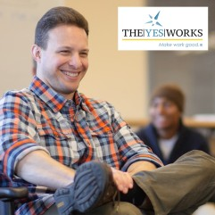 Aaron Schmookler works with Adam Utley to promote workplace producitvity