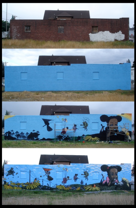 Chris Sharp and Jeremy Gregory's Hilltop Mural