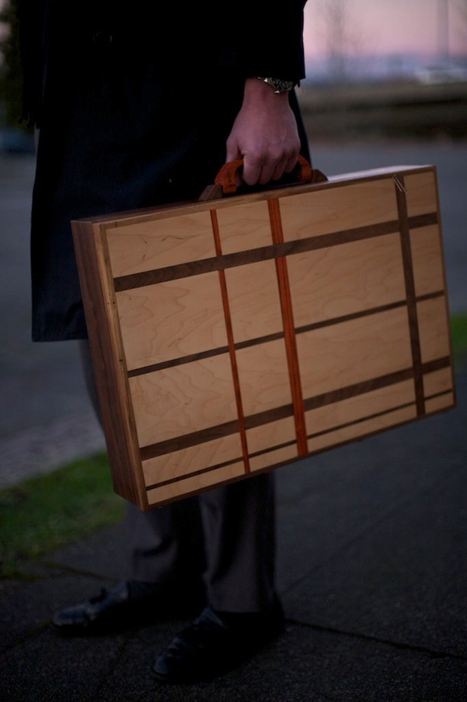 solid wood briefcase woodworking