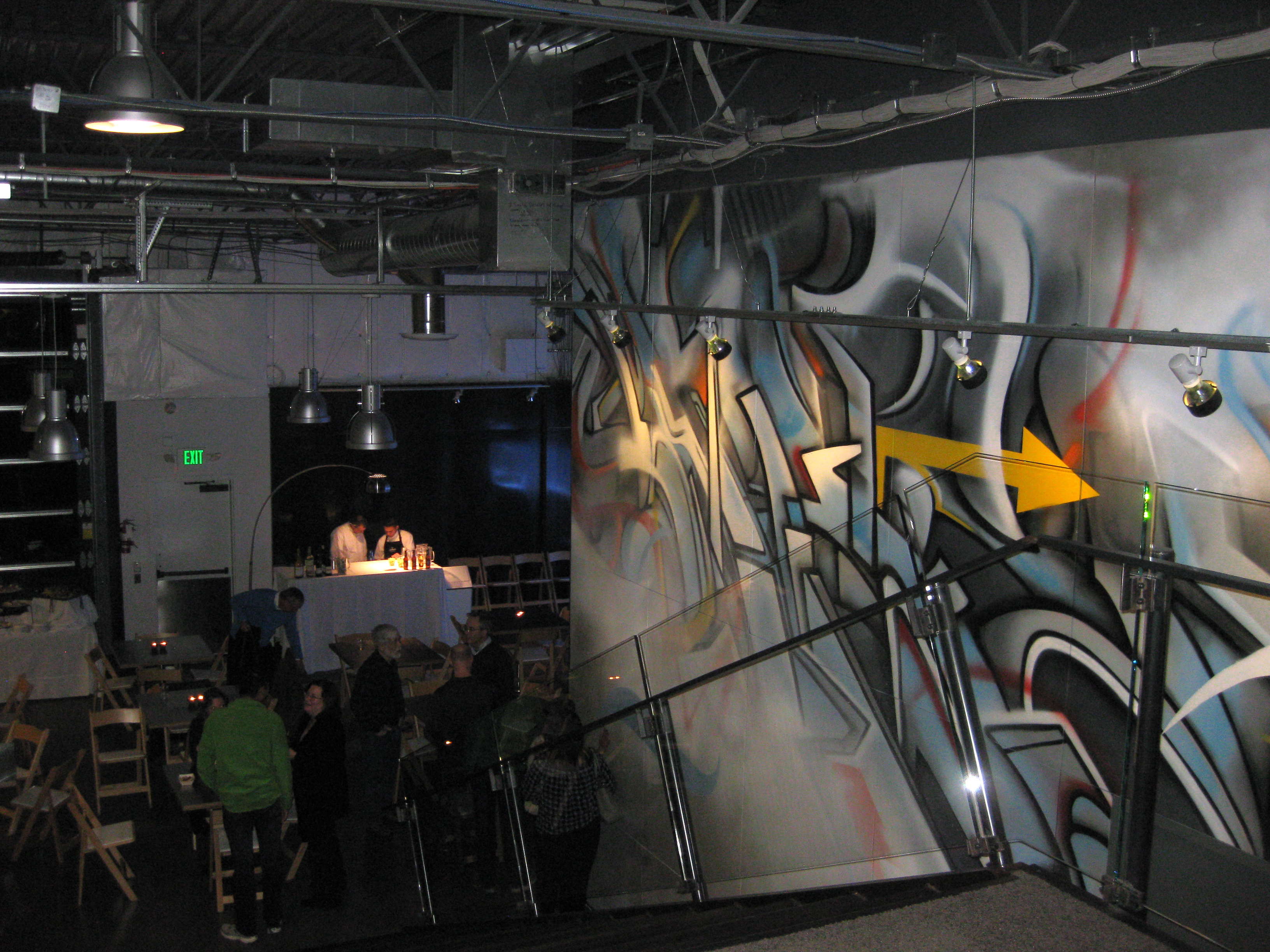 Graffiti wall tacoma - Art In 3 D Dedication Party For The New Fab 5 Mural At