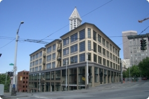 Tashiro Kaplan Artist Live/Work Building in downtown Seattle - has 50 units of affordable housing and creative space for artists and their families, and  also houses 27 commercial arts related entities.