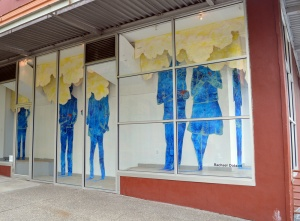 "Rachael Dotson's installation ""Untitled"" currently on display in Woolworth Window #2."
