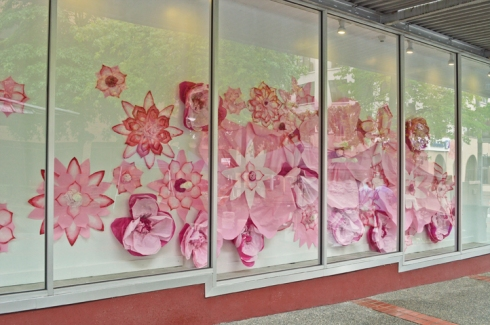 Woolworth window installation on Broadway Ave by Kelly June Mitchell