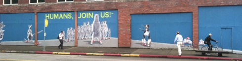 """""""Humans, Join Us!"""" by Kristin Giordano & Mindy Barker."""