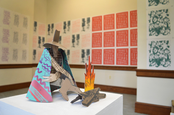 A view of Scott Scoggin's Pop-Up Gallery in the Old Post Office - TODAY ONLY!