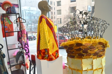 A wide array of beautiful textiles and jewelry from local and regional artists make up this large, and colorful exhibition showing off 20 years of art-for-a-cause by the RAGS Guild.