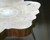 Live-edge table by birdloft