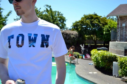 TOWN tee. Available only at the grand Opening. July 19th. Photo by eTc Tacoma.