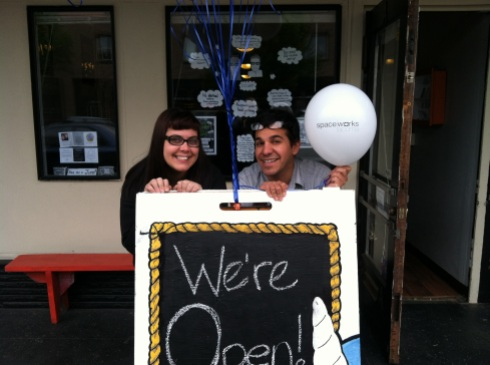 Proud owners on the morning of their soft opening June 3rd