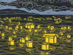 Floating Lanterns by Mimi Williams. Artwork purchased in 2012 as part of the City of Tacoma's Municipal Art Collection.