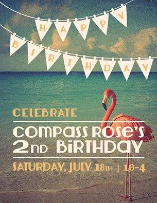 CR birthday simple flyer