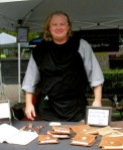 Gary Waldron currently sells Rogue Friar journals at farmers markets but is looking to expand his market. / Photo courtesy of Gary Waldron