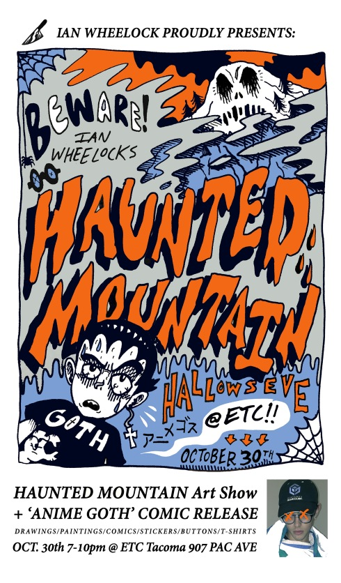 Haunted Mountain & Anime Goth Event Poster