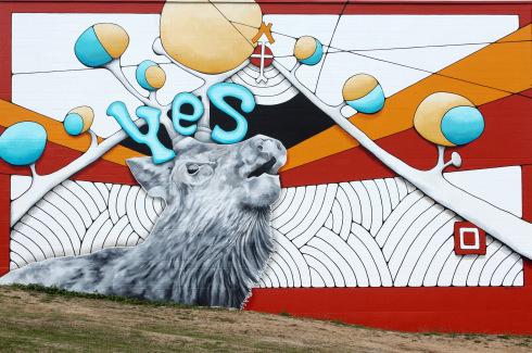 Tahoma Associates, 1545 Tacoma Avenue South. Artist: Mindy Barker. 2014.