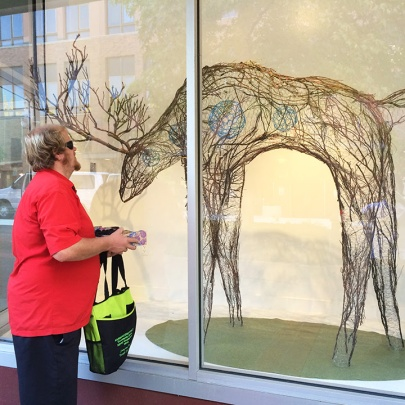 Exhibit by Eva Funderburgh at the Woolworth Windows Artscapes location by Spaceworks Tacoma