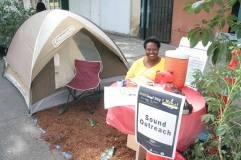 Sound Outreach put up a small campground