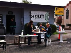 SPUN studio got messy at outdoor clay workshop for PARK(ing) Day 2015