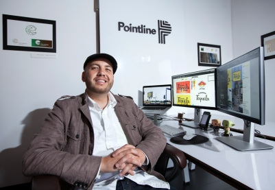 Isaac Martinez, entrepreneur and graphic designer - Pointline. (Photo: Patrick Hagerty)