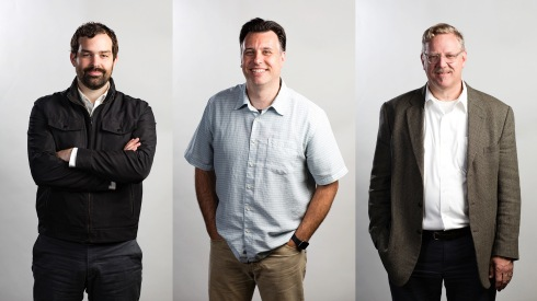 Designers of ROTATOR Creative Lance Kagey, Scott Varga, and Mark Alvis
