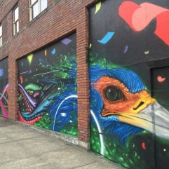 Striking Spaceworks mural by Game Not Fame on the corner of 11th and Market streets packed a lot of visual impact. Photo courtesy of Spaceworks.