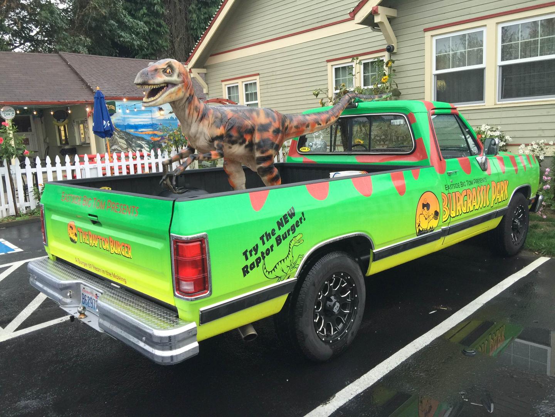 Raptop Burger vehicle wrap by Crimson Graphics