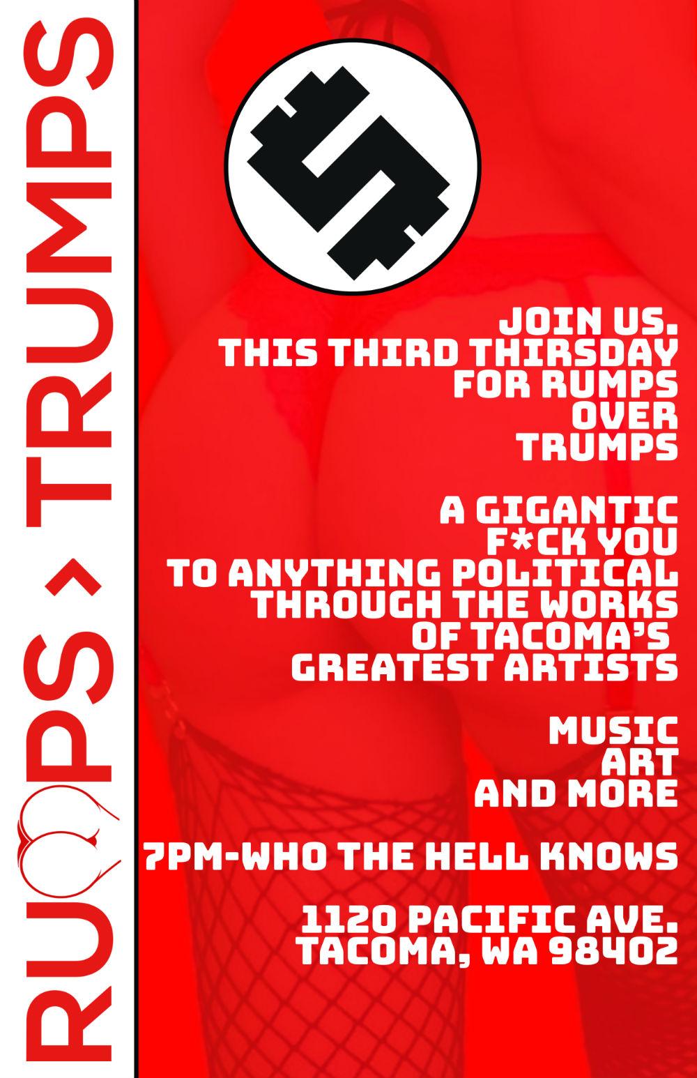 RUMPS OVER TRUMPS - 1120 Creative House Artwalk