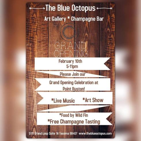 blue octopus grand opening at point ruston