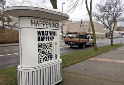 Ryan Feddersen Artscapes Mural at the Happenings Kiosk Tacoma