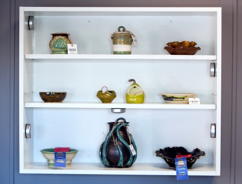 Pottery and ceramic dishes at SPUN Clay Arts Studio
