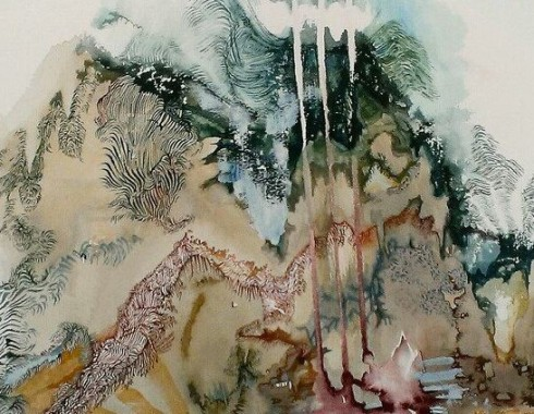 """Chandler Woodfin, """"Black Mountain"""", 24×36″ watercolor on paper (2015)"""